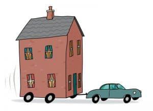 רכב משפחתי גורר בית. בעזרת מחשבון שווי נכס ידעת של יד 2 נבדוק כדאיות גרירת משכנתא